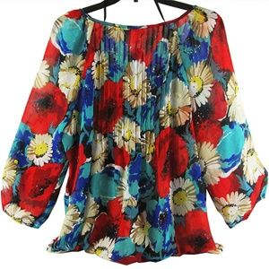 Chapter Club Floral Blouse